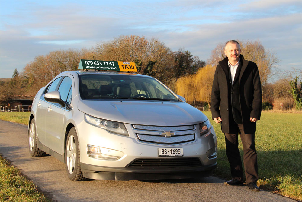 Chevrolet Volt - Elektromobil der Airport-Taxiservice Basel