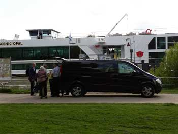 Embarking at Scenic Opal ship at Basel with Airport Taxiservice Basel.