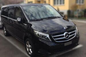 Servicio de Limusina Suizo (Basilea) Maria Castillo con el nuevo Mercedes V-Clase, 4x4